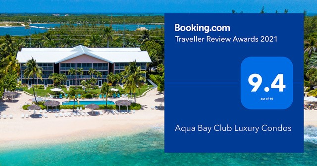 Booking.com Award - Aqua Bay - Cayman Islands